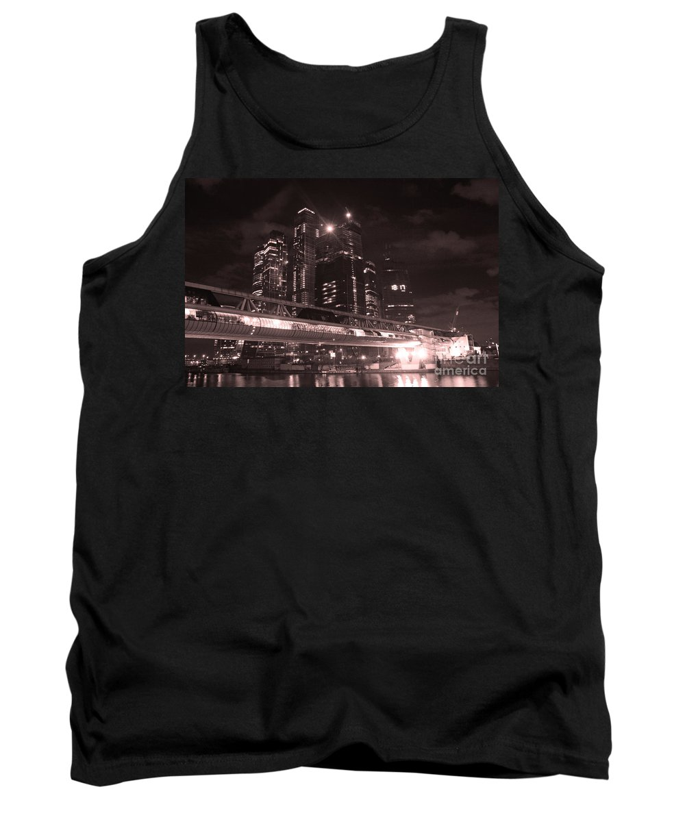Night Tank Top featuring the photograph Moscow At Night by Lali Kacharava