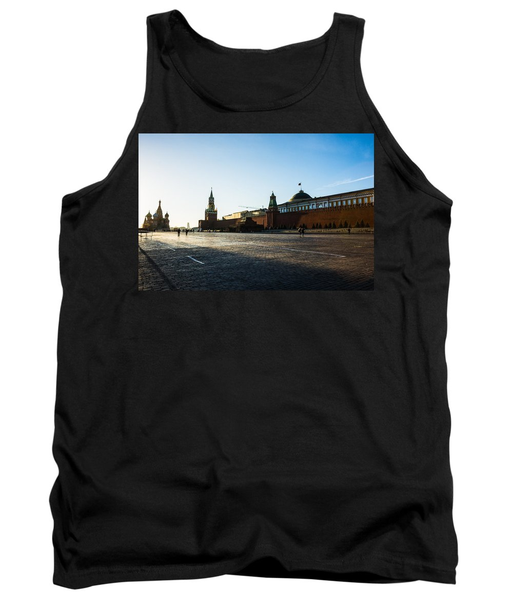 Architecture Tank Top featuring the photograph Moscow Red Square From North-west To South-east by Alexander Senin