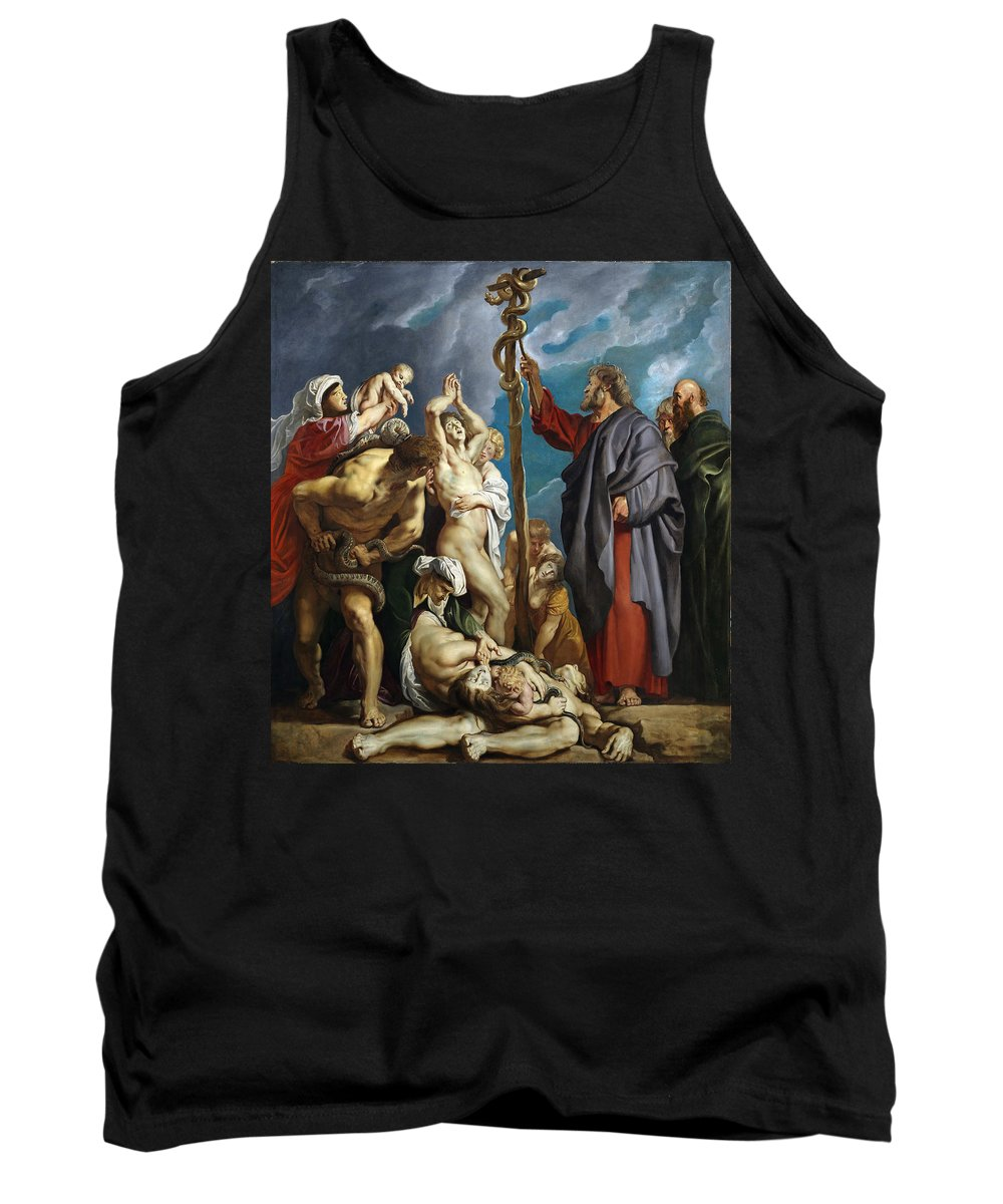 Peter Paul Rubens Tank Top featuring the painting Moses And The Brazen Serpent by Peter Paul Rubens