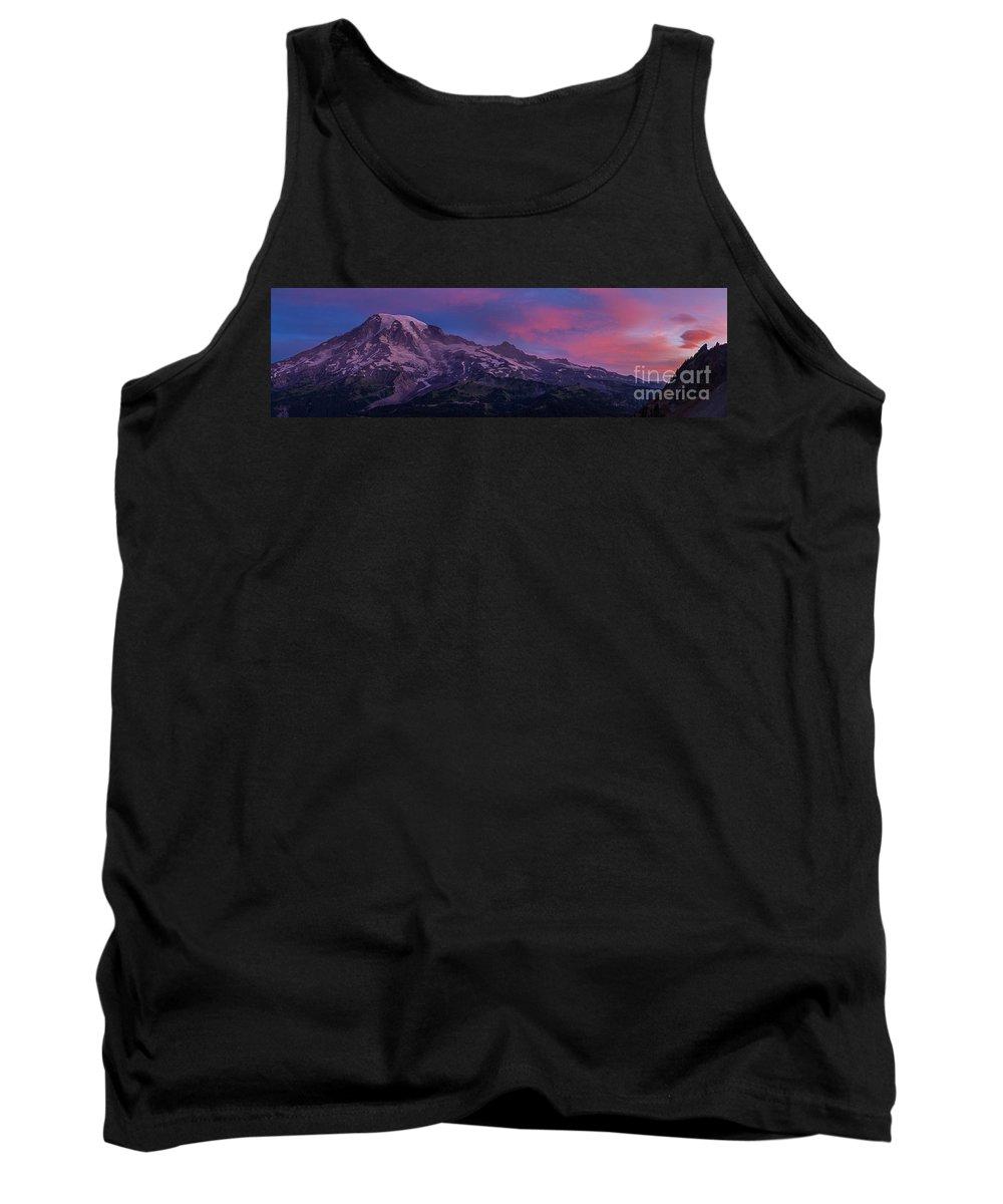 Rainier Tank Top featuring the photograph Mount Rainier Sunrise by Mike Reid