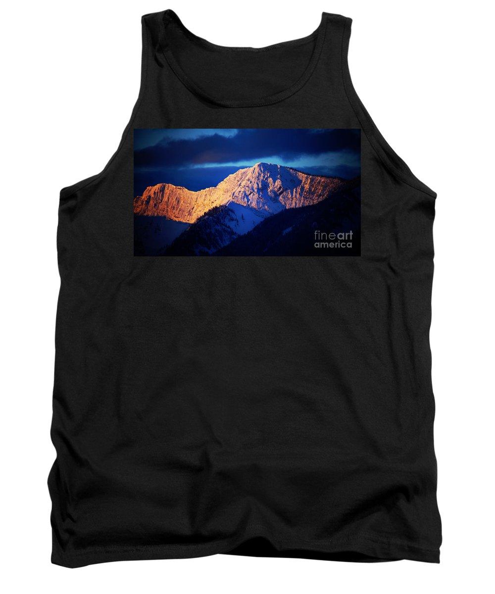 Mountains Tank Top featuring the photograph Lizard Range Mountain Sunrise by Anita Braconnier