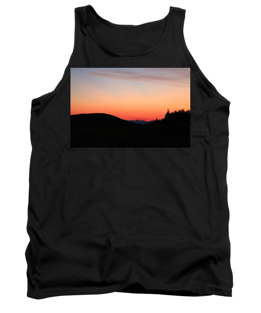 Jackson Hole Tank Top featuring the photograph Mountain Sunrise by Catie Canetti