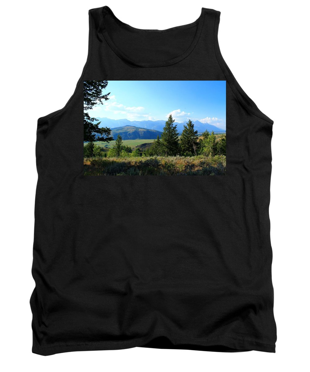 Grand Teton Mountains Tank Top featuring the photograph Mountain View by Catie Canetti