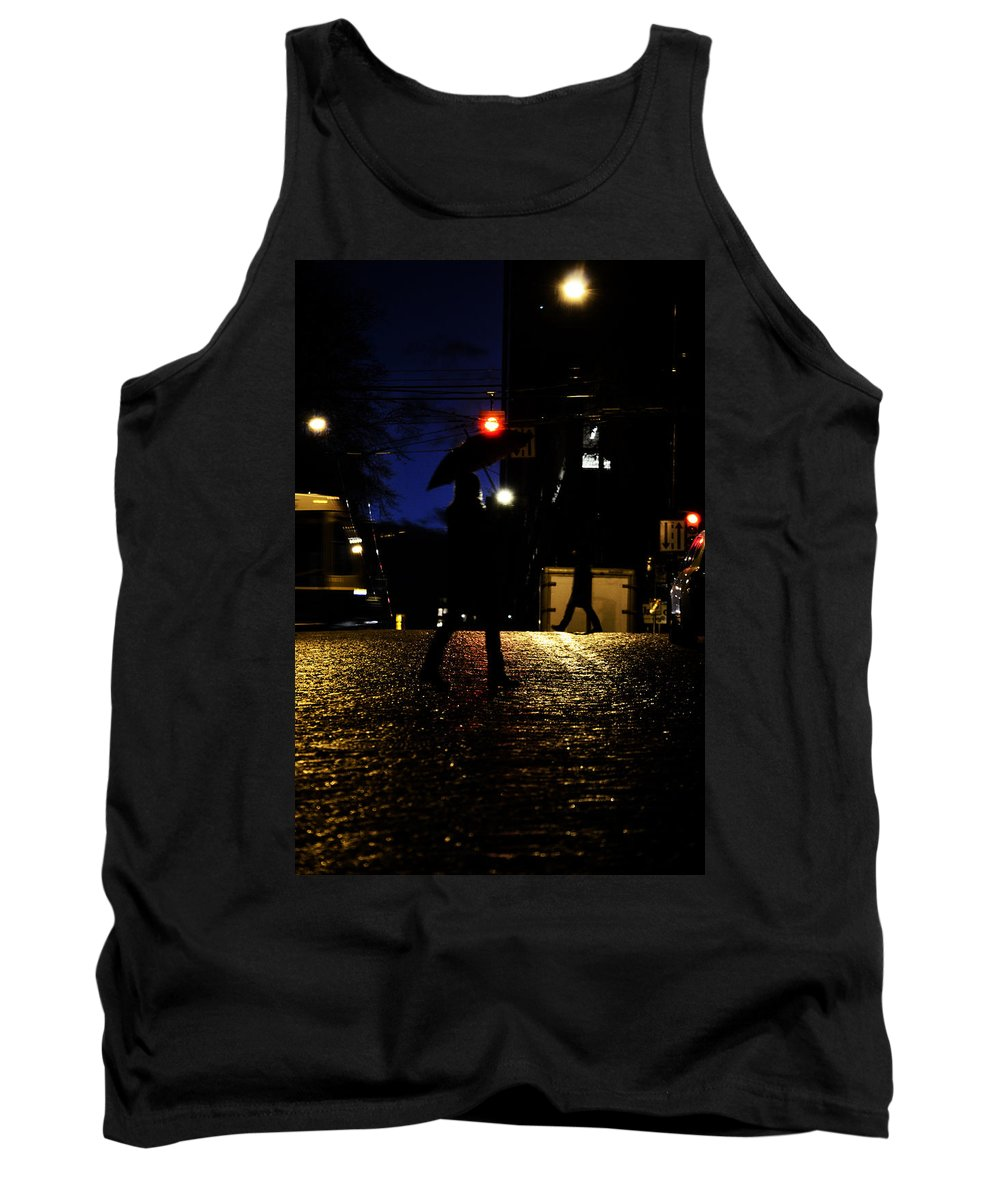 Street Photography Tank Top featuring the photograph Moving Rain by The Artist Project