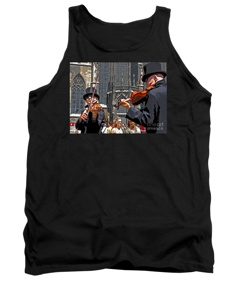 Buskers Tank Top featuring the photograph Mozart In Masquerade by Ann Horn