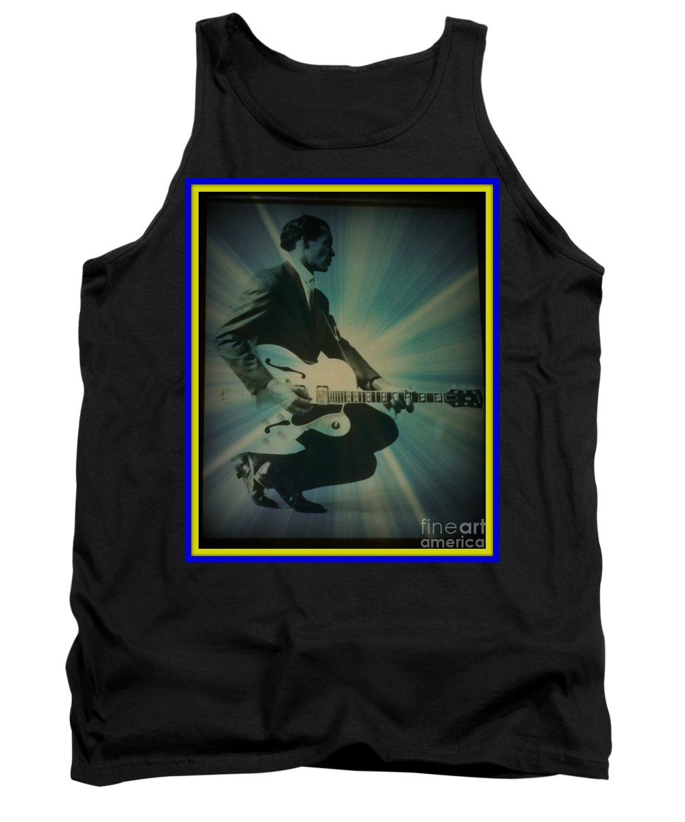 Tank Top featuring the photograph Mr. Chuck Berry Blueberry Hill Style by Kelly Awad