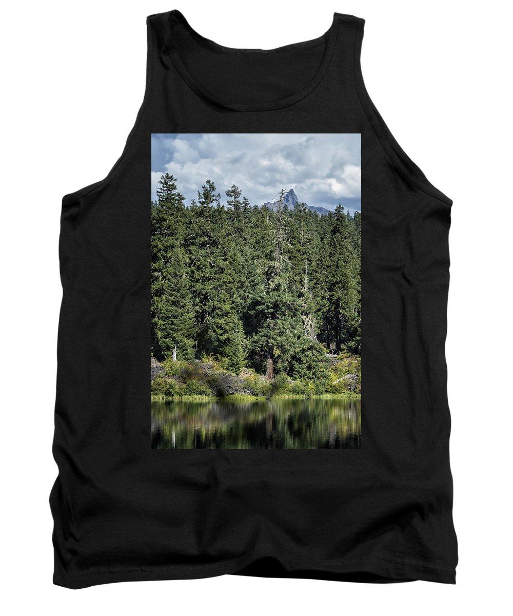 Lake Tank Top featuring the photograph Mt Washington Behind Clear Lake by Belinda Greb