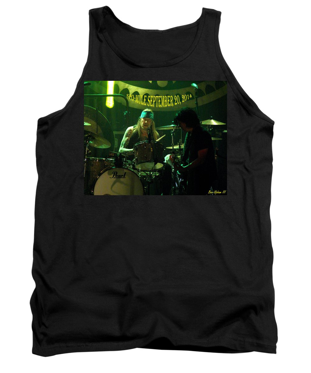 Gov't Mule Tank Top featuring the photograph Mule #15 With Text by Ben Upham
