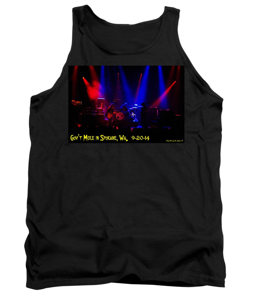 Gov't Mule Tank Top featuring the photograph Mule #6 Enhanced With Text by Ben Upham
