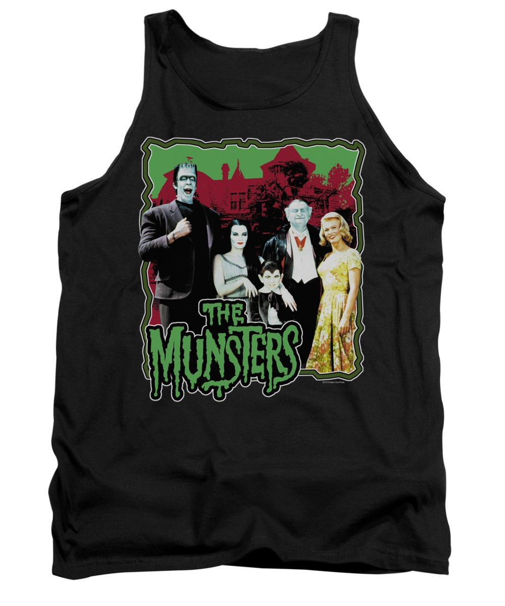 Munsters Tank Top featuring the digital art Munsters - Normal Family by Brand A
