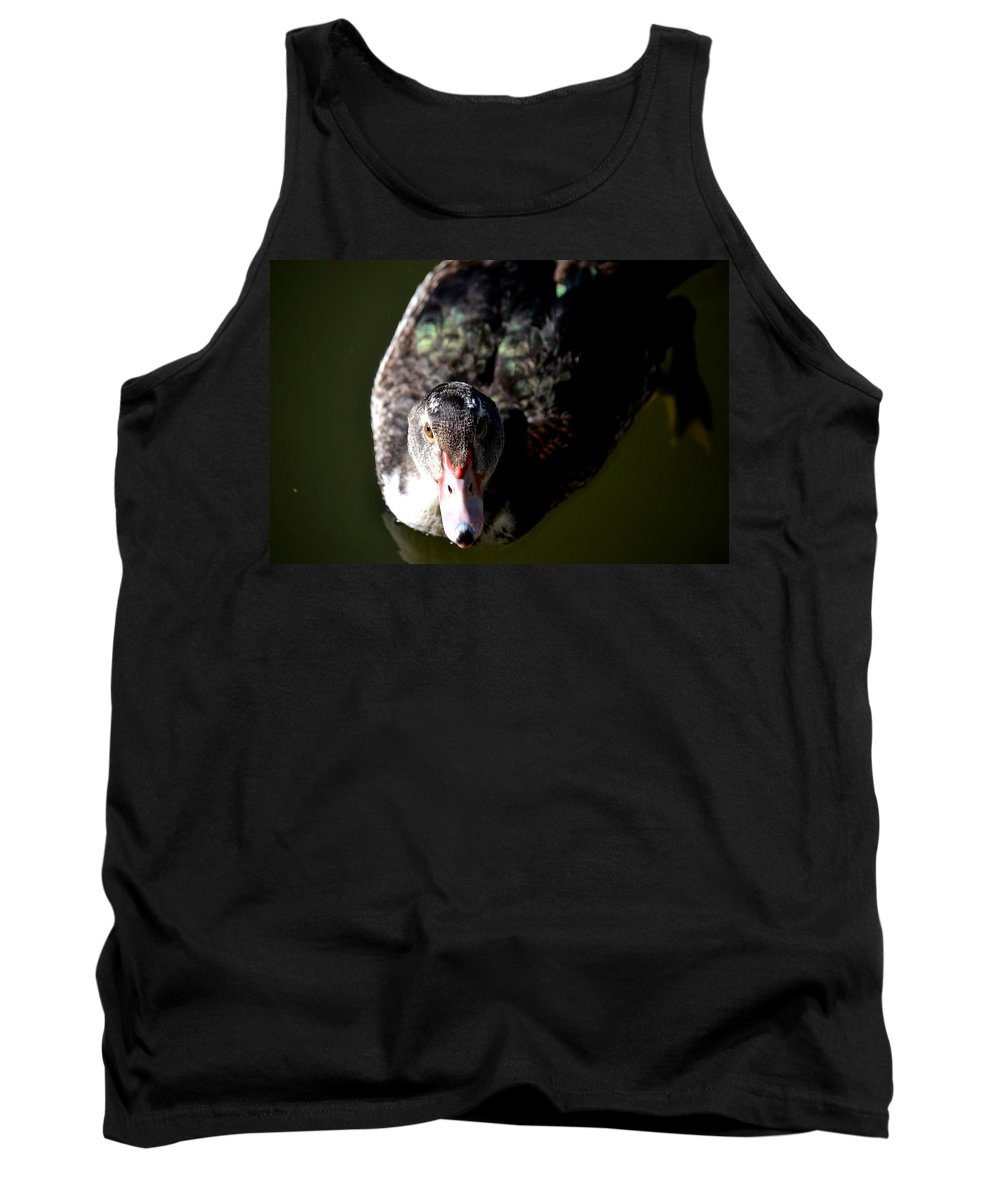Muscovy 14-2 Tank Top featuring the photograph Muscovy 14-2 by Maria Urso
