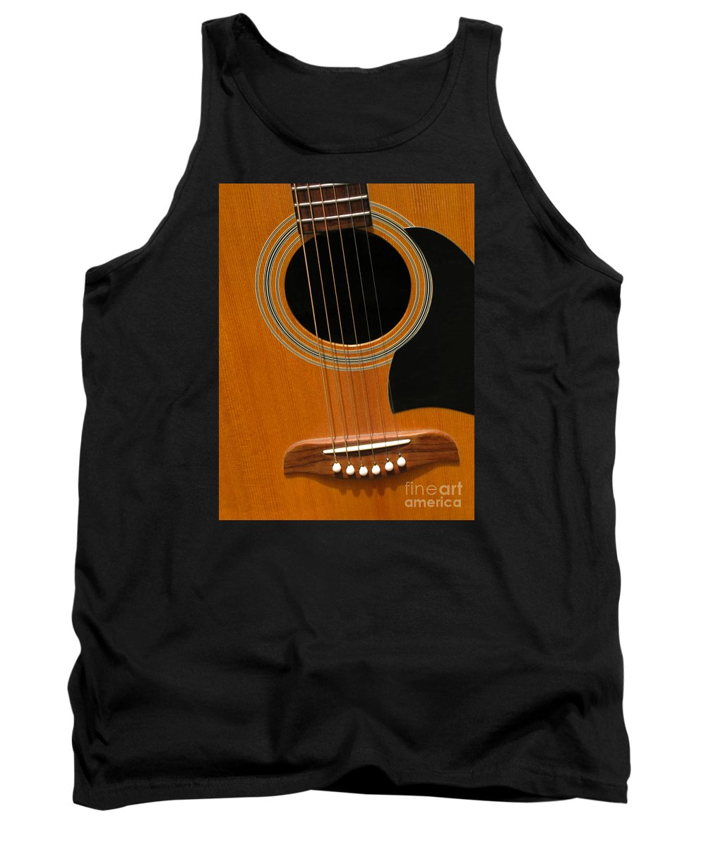 Guitar Tank Top featuring the photograph Musical Abstraction by Ann Horn
