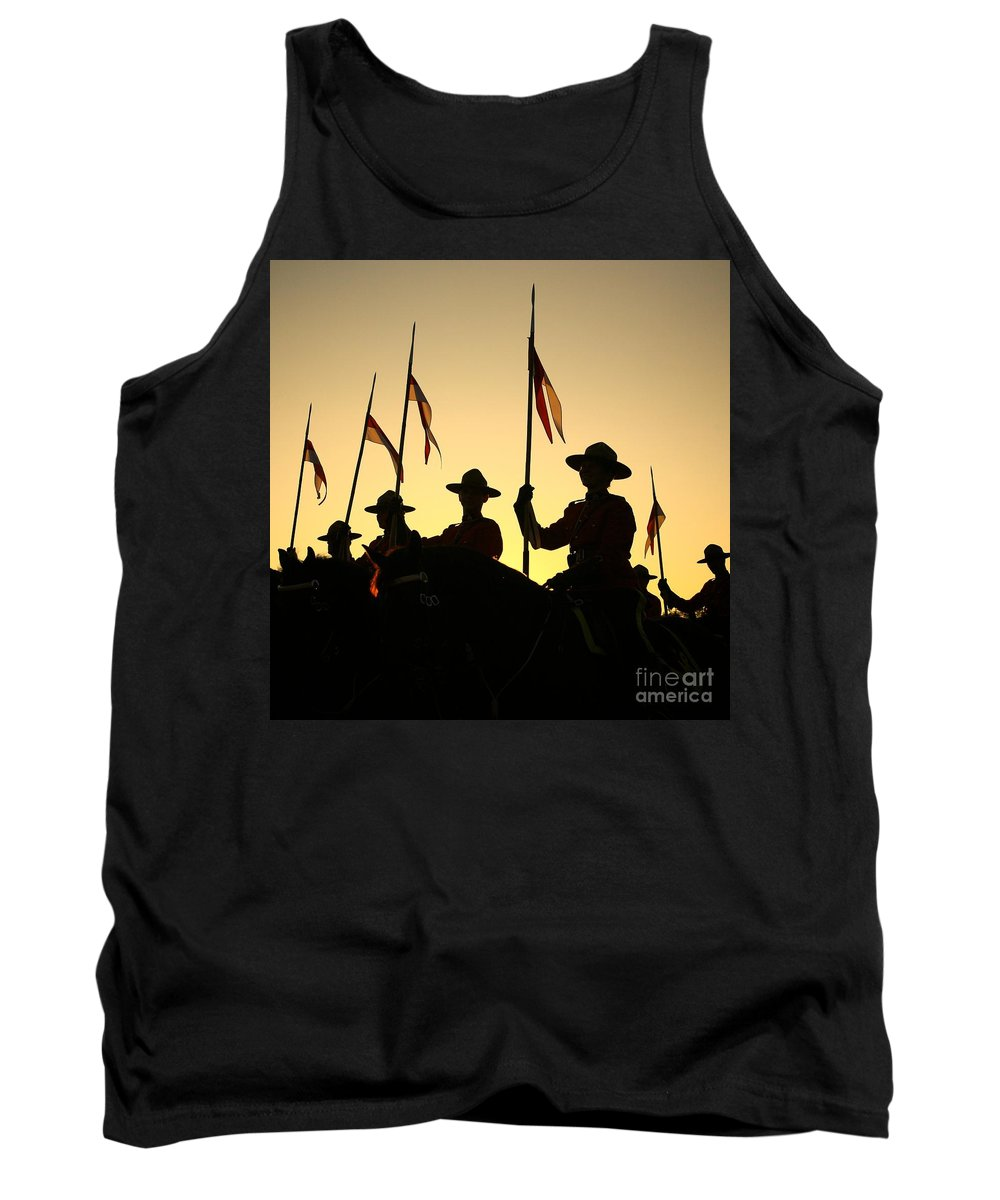 Rcmp Tank Top featuring the photograph Musical Ride by Chris Dutton