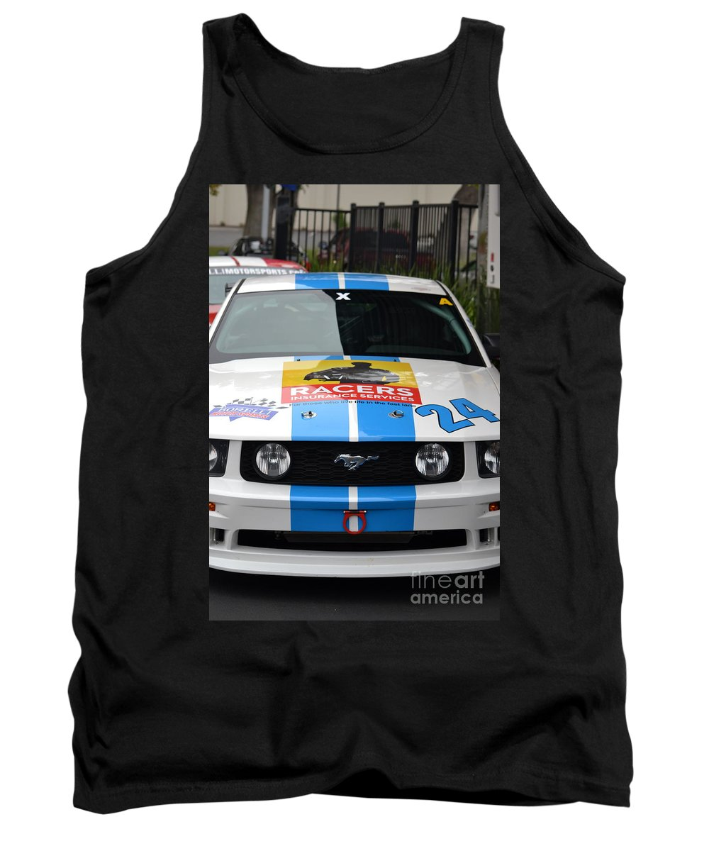 Tank Top featuring the photograph Mustang Race Car by Dean Ferreira