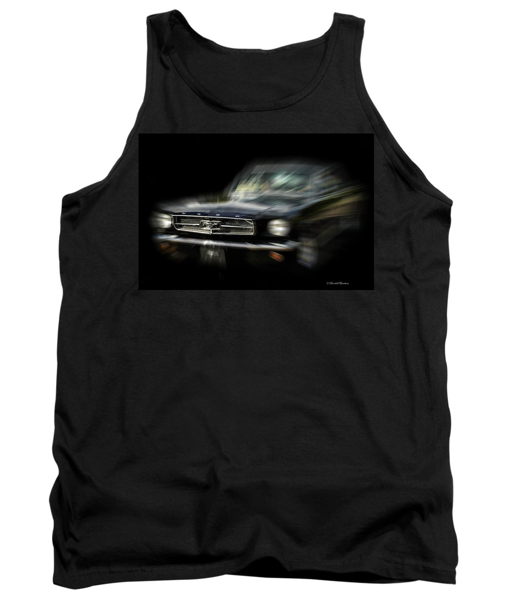 Mustang Tank Top featuring the photograph Mustang Zoom Zoom by Randall Branham