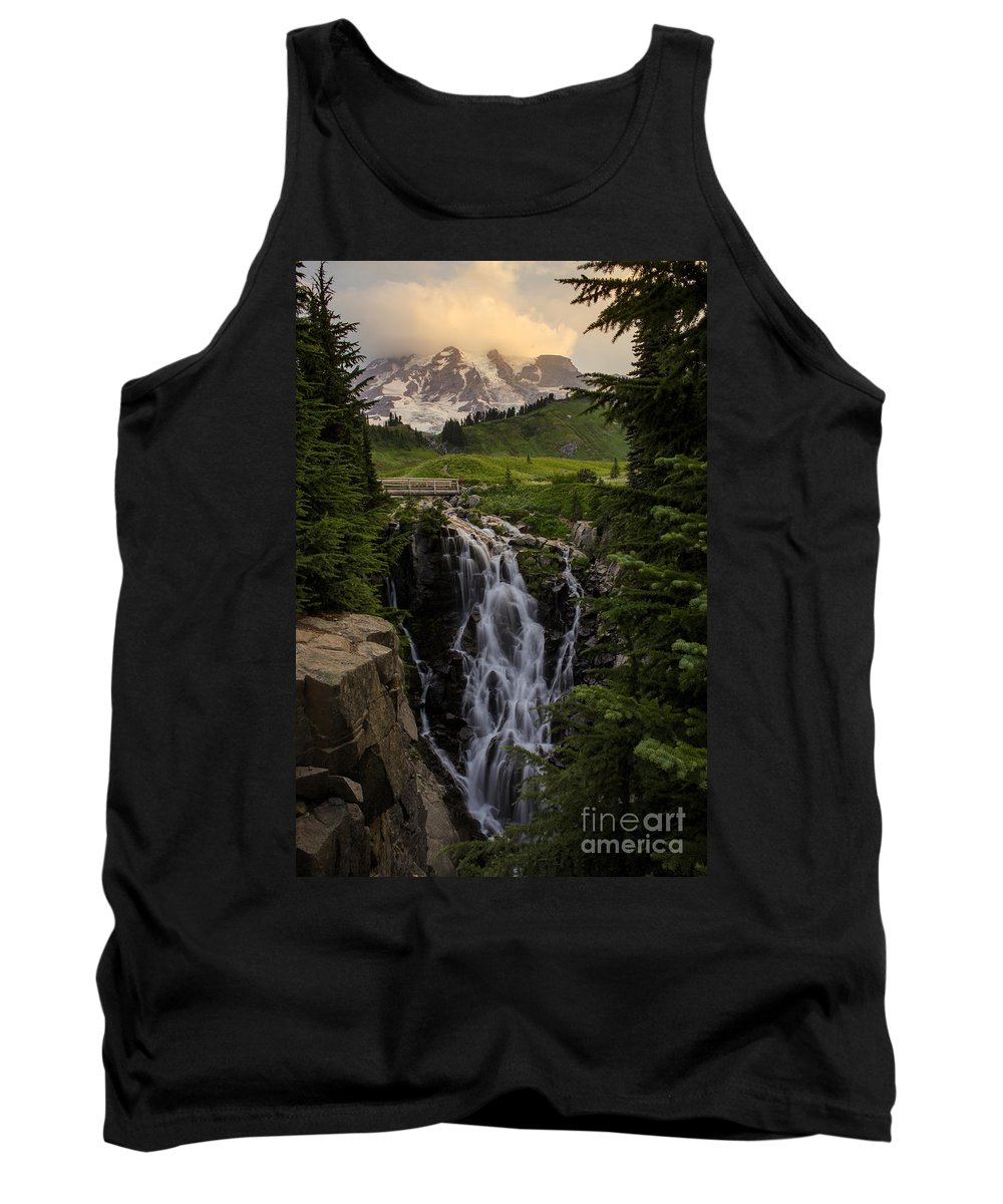 Rainier Tank Top featuring the photograph Myrtle Falls Morning Light by Mike Reid