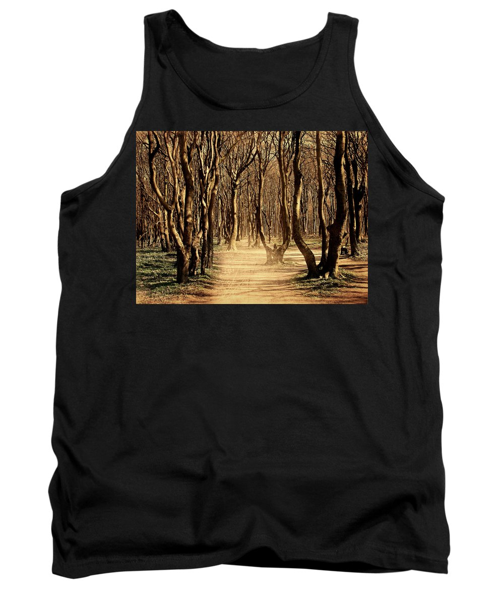 Forest Tank Top featuring the photograph Mysterious Forest by Heike Hultsch