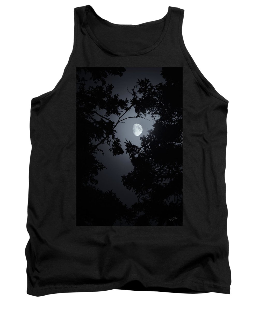 Moon Glow Tank Top featuring the photograph Mystic by Doug Gibbons