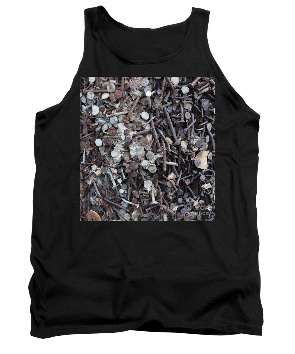 Nails Tank Top featuring the photograph Nail It To The Power Pole by M Dale