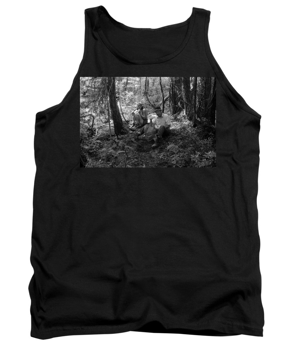 Tank Top featuring the photograph Nancy And Dad 1977 by Ben Upham