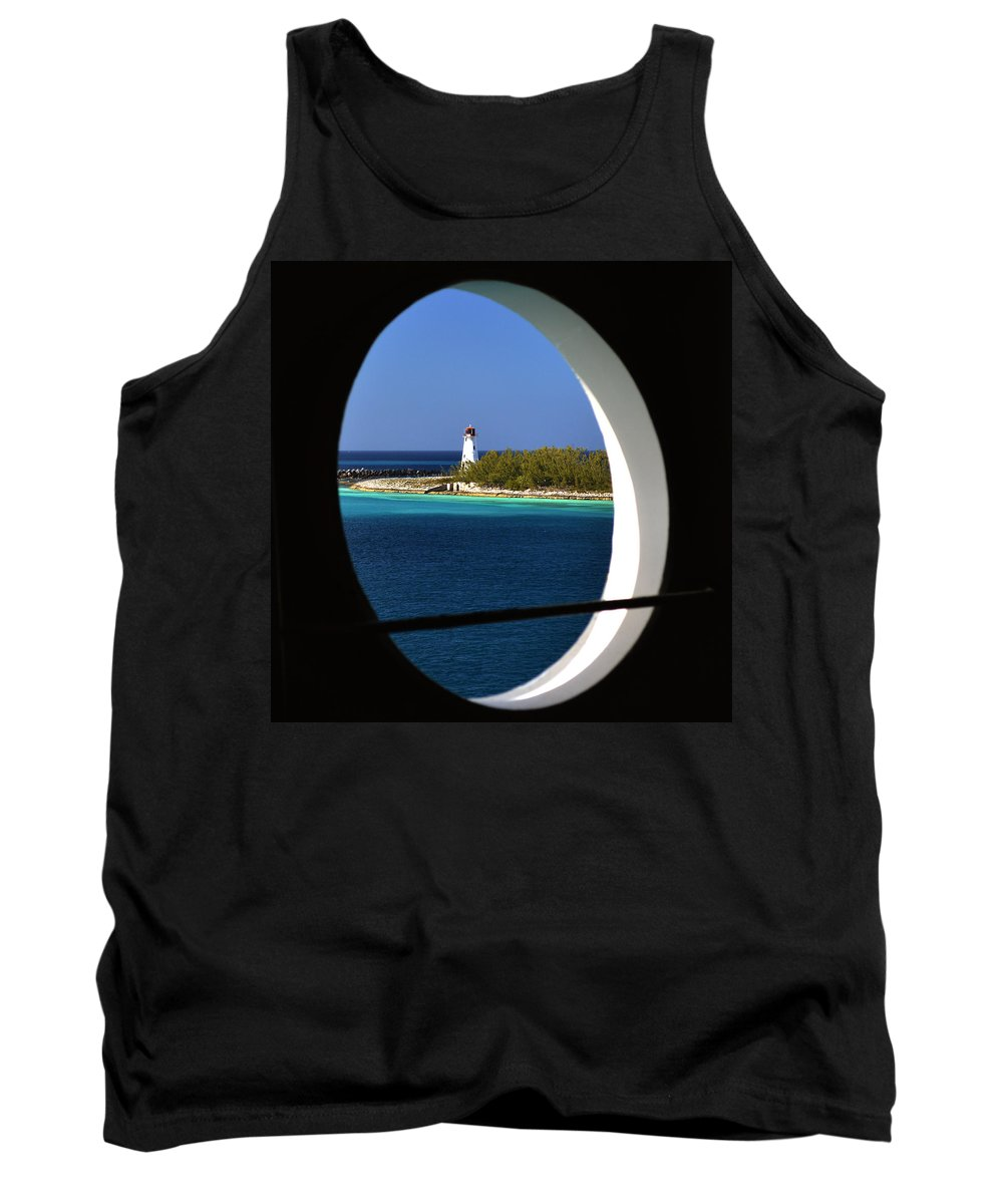 Nassau Lighthouse Tank Top featuring the photograph Nassau Lighthouse Porthole View by Bill Swartwout Fine Art Photography