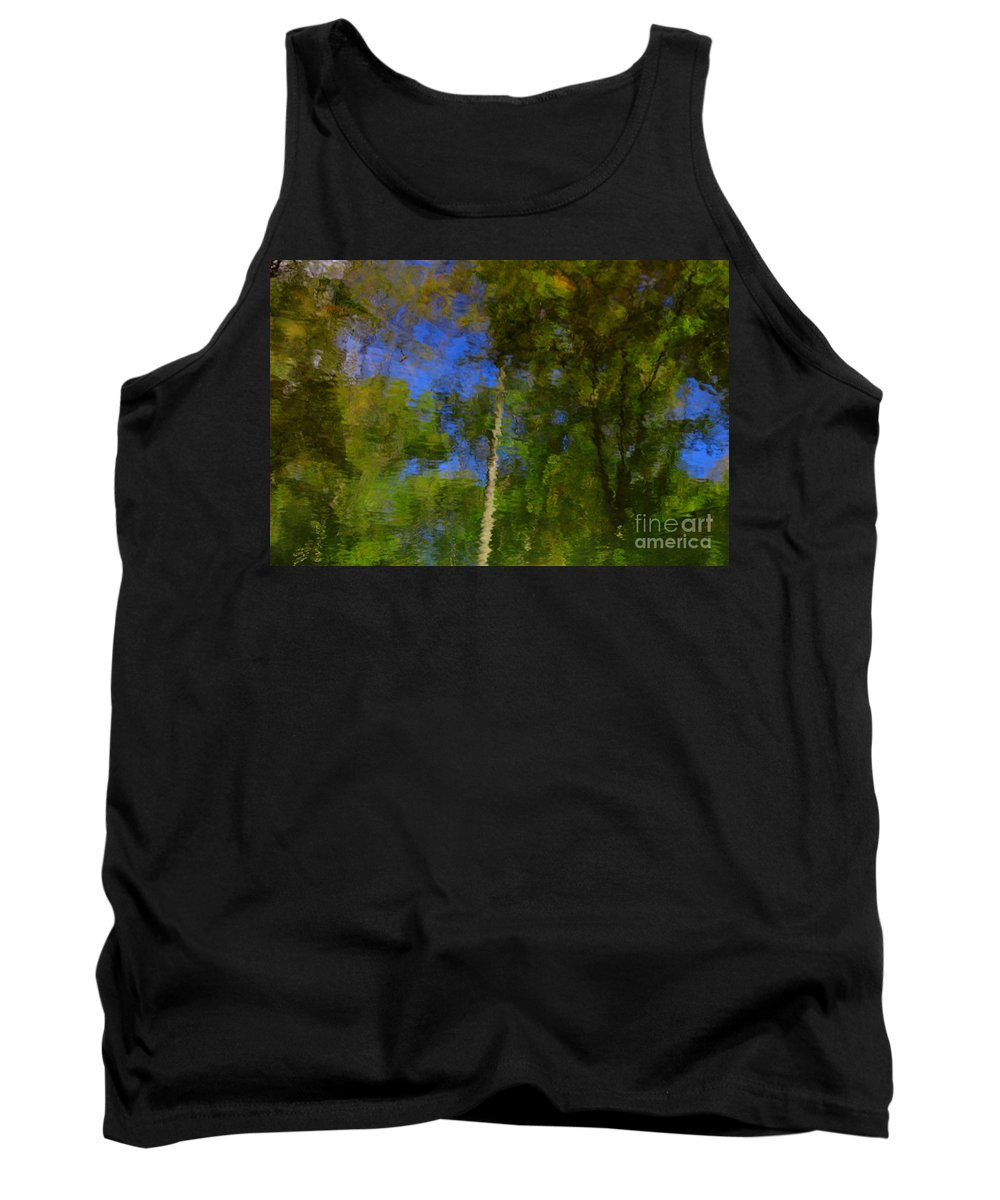 Nature Tank Top featuring the photograph Nature Reflecting by Melissa Petrey