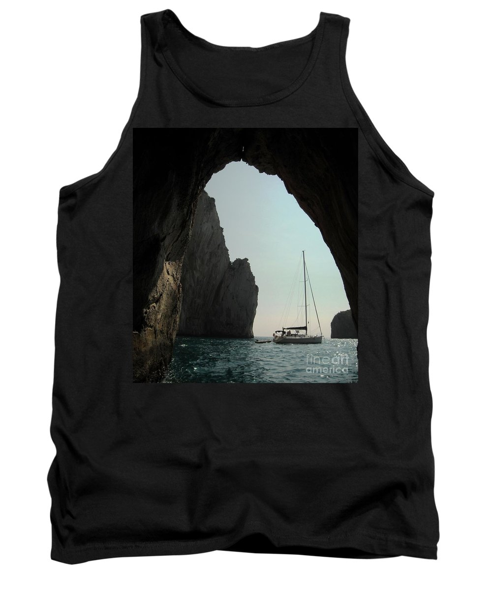 Amalfi Coast Tank Top featuring the photograph Rock Canopy by Lisa Kilby