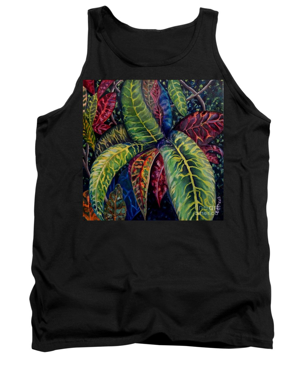 Shrubs Tank Top featuring the painting Nature's Palette by Caroline Street
