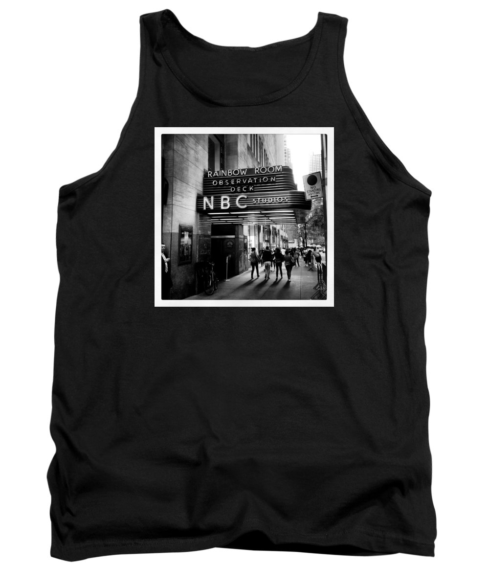 Nyc Tank Top featuring the photograph Nbc Studios by Lisa OConnor