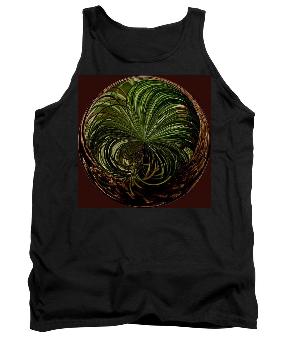 Pine Tank Top featuring the photograph Nesting Pine Orb by Tikvah's Hope