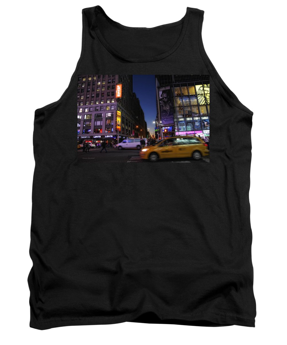 New York City Tank Top featuring the photograph Never Sleeps by Donna Blackhall