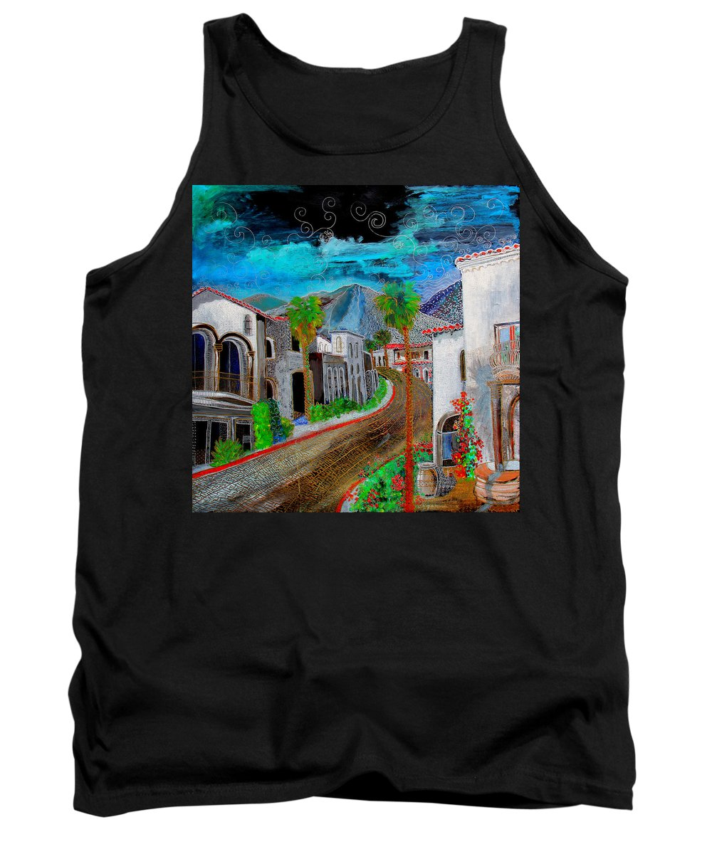Tank Top featuring the painting New Old Town La Quinta by Gideon Cohn