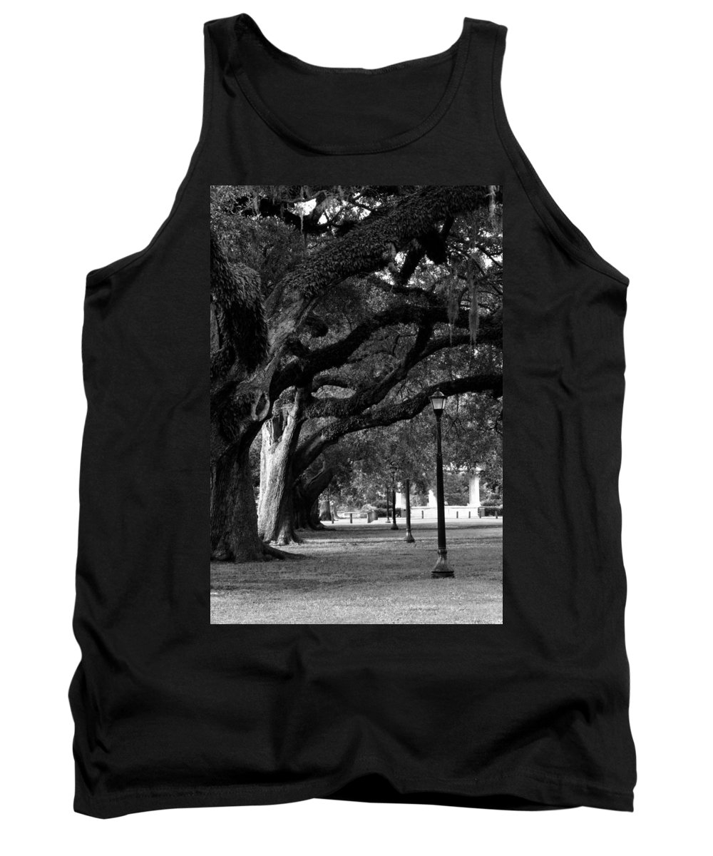 New Orleans Tank Top featuring the photograph New Orleans Oaks by Susie Hoffpauir