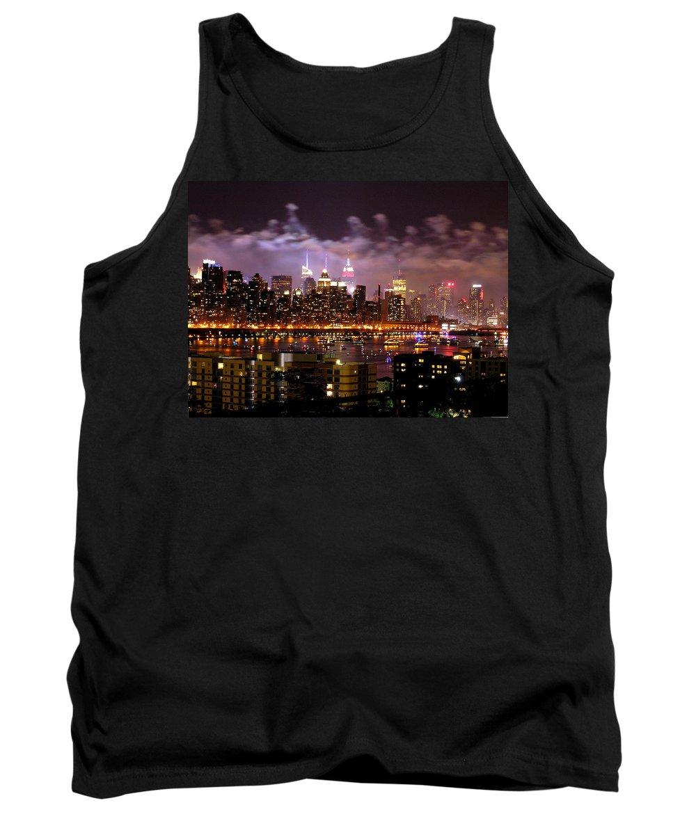 Bruce Brandli Tank Top featuring the photograph New York City Celebrates by Bruce Brandli