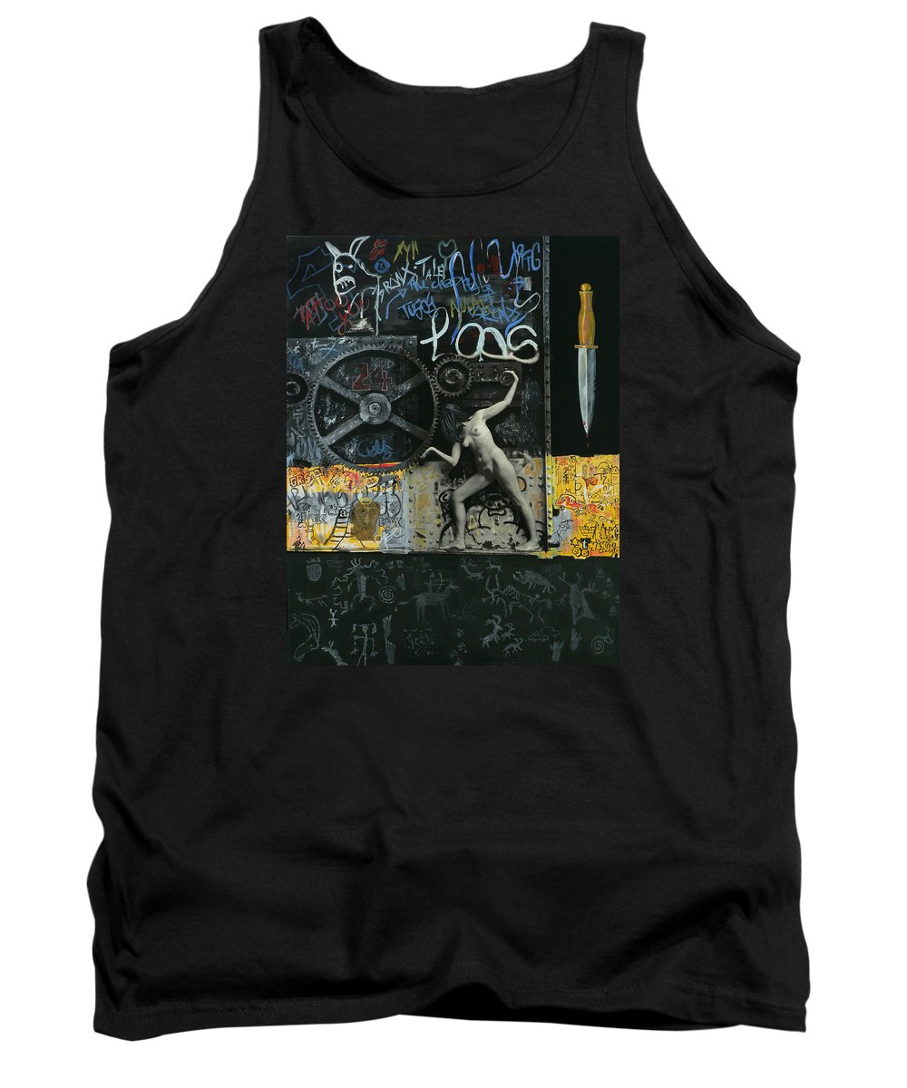 City Tank Top featuring the painting New York City by Yelena Tylkina