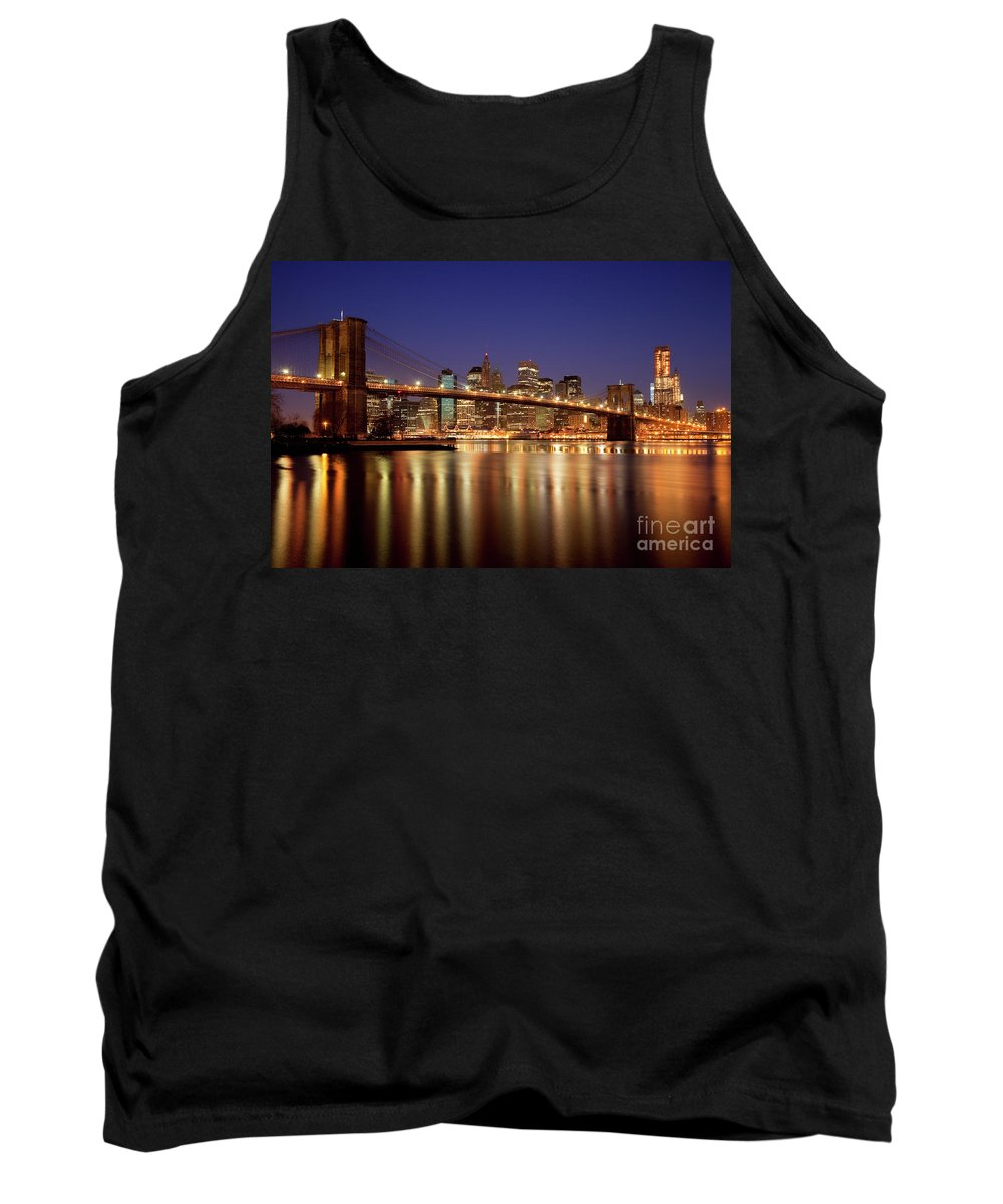 Brooklyn Tank Top featuring the photograph New York Skyline by Brian Jannsen