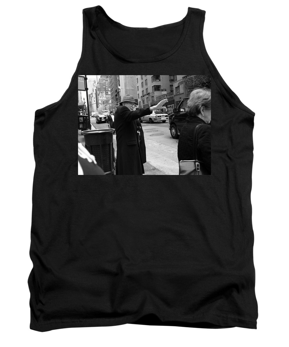 Architecture Tank Top featuring the photograph New York Street Photography 27 by Frank Romeo