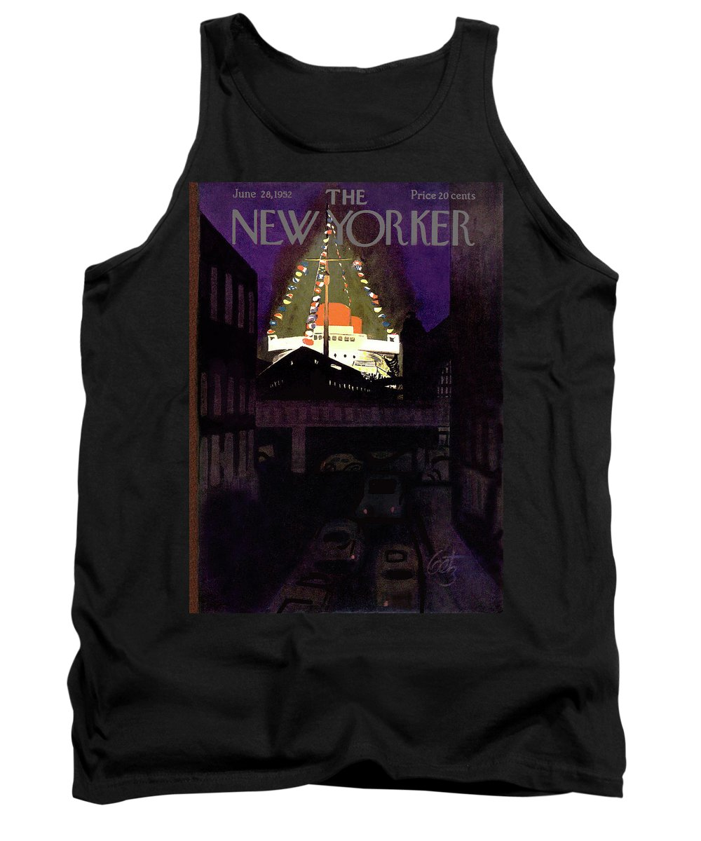 Urban Tank Top featuring the painting New Yorker June 28th, 1952 by Arthur Getz