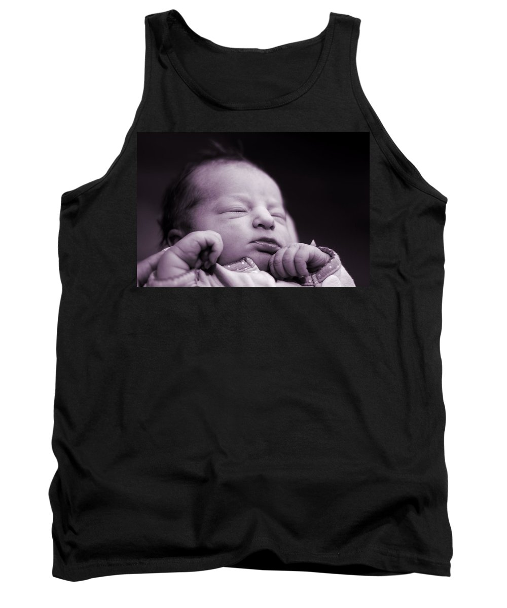 It's A Girl Tank Top featuring the photograph Newborn Baby by Dan Sproul