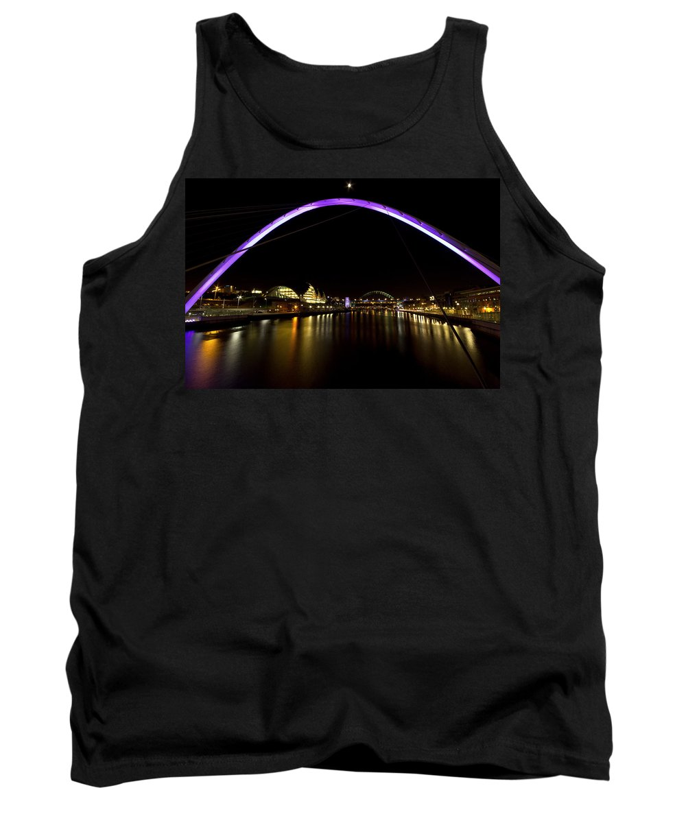 Sage Gateshead Tank Top featuring the photograph Newcastle Quayside And Sage Gateshead by David Pringle