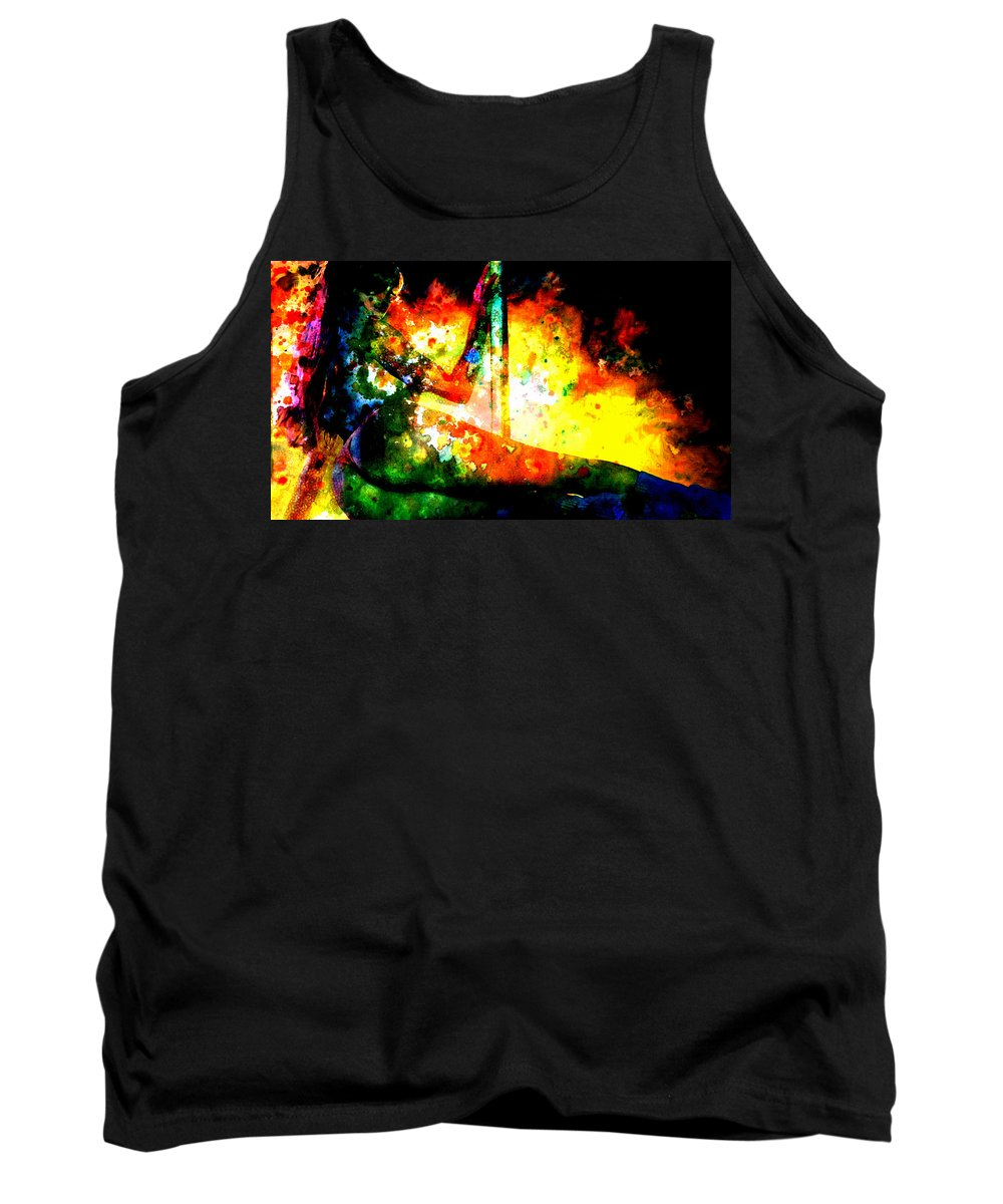 Sexy Tank Top featuring the painting Next Dance by Brian Reaves