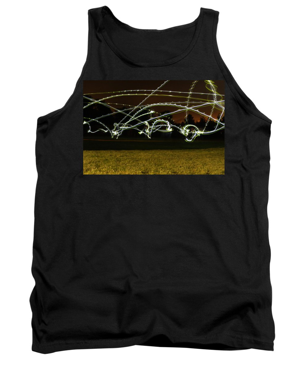 Frisbee Tank Top featuring the photograph Night Frisbee by Tiffany Erdman