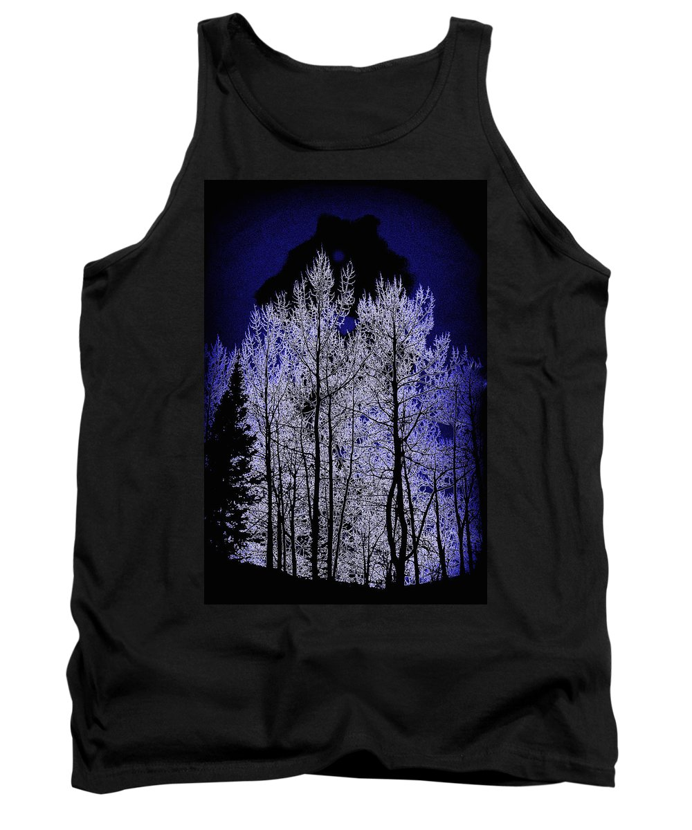 Colorado Photographs Tank Top featuring the photograph Night Of The Wolf by Gary Benson