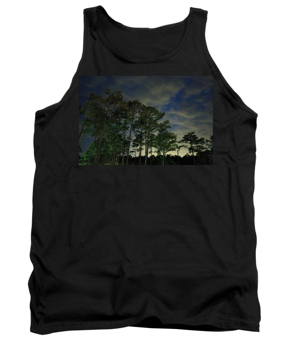 Clouds Tank Top featuring the photograph Night Pines by Paula OMalley