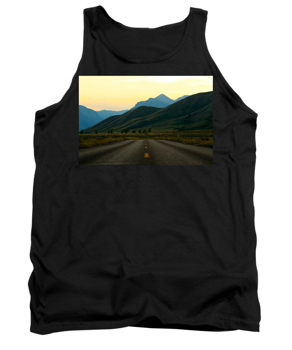 Jackson Hole Tank Top featuring the photograph No Cars Here by Catie Canetti