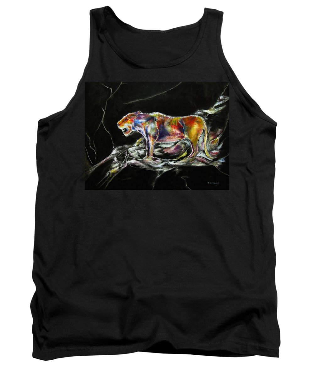 Animals Tank Top featuring the painting No Fear by Tom Conway