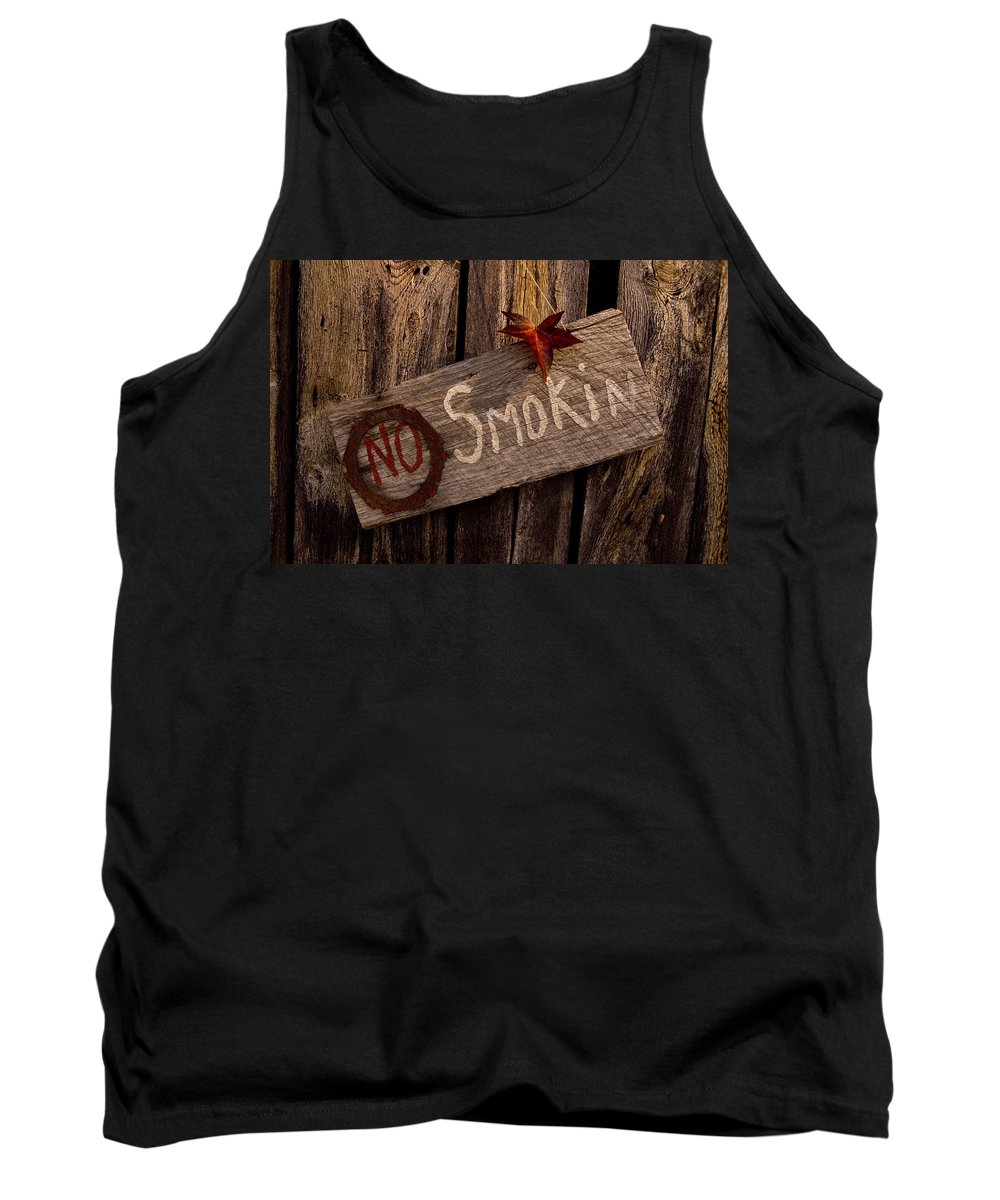 Barn Tank Top featuring the photograph No Smokin by Jennifer Stackpole
