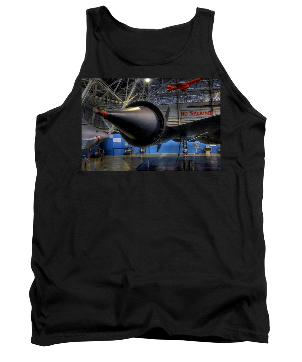 Lockheed Tank Top featuring the photograph No Smoking Jp-7 by David Dufresne