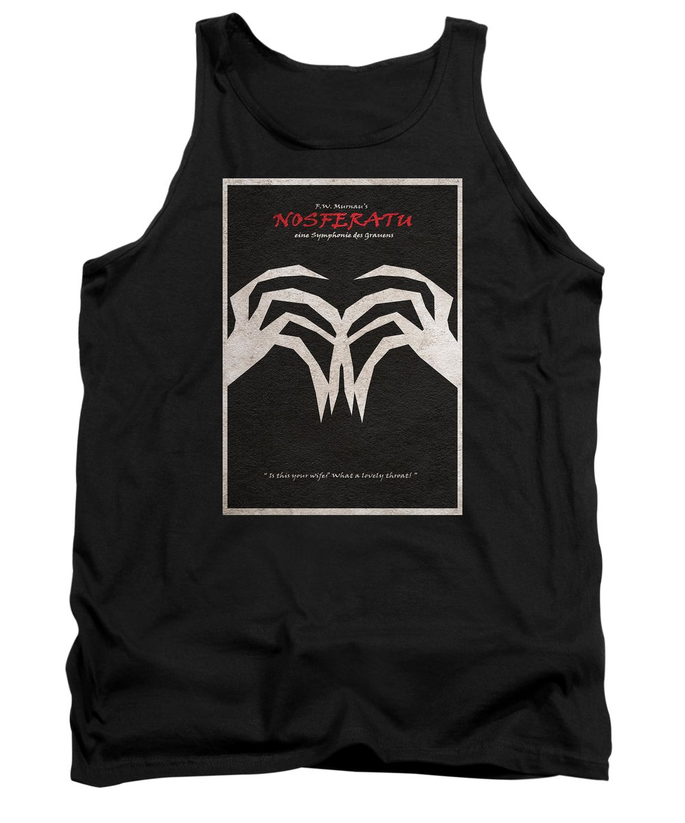 Nosferatu Tank Top featuring the digital art Nosferatu by Inspirowl Design