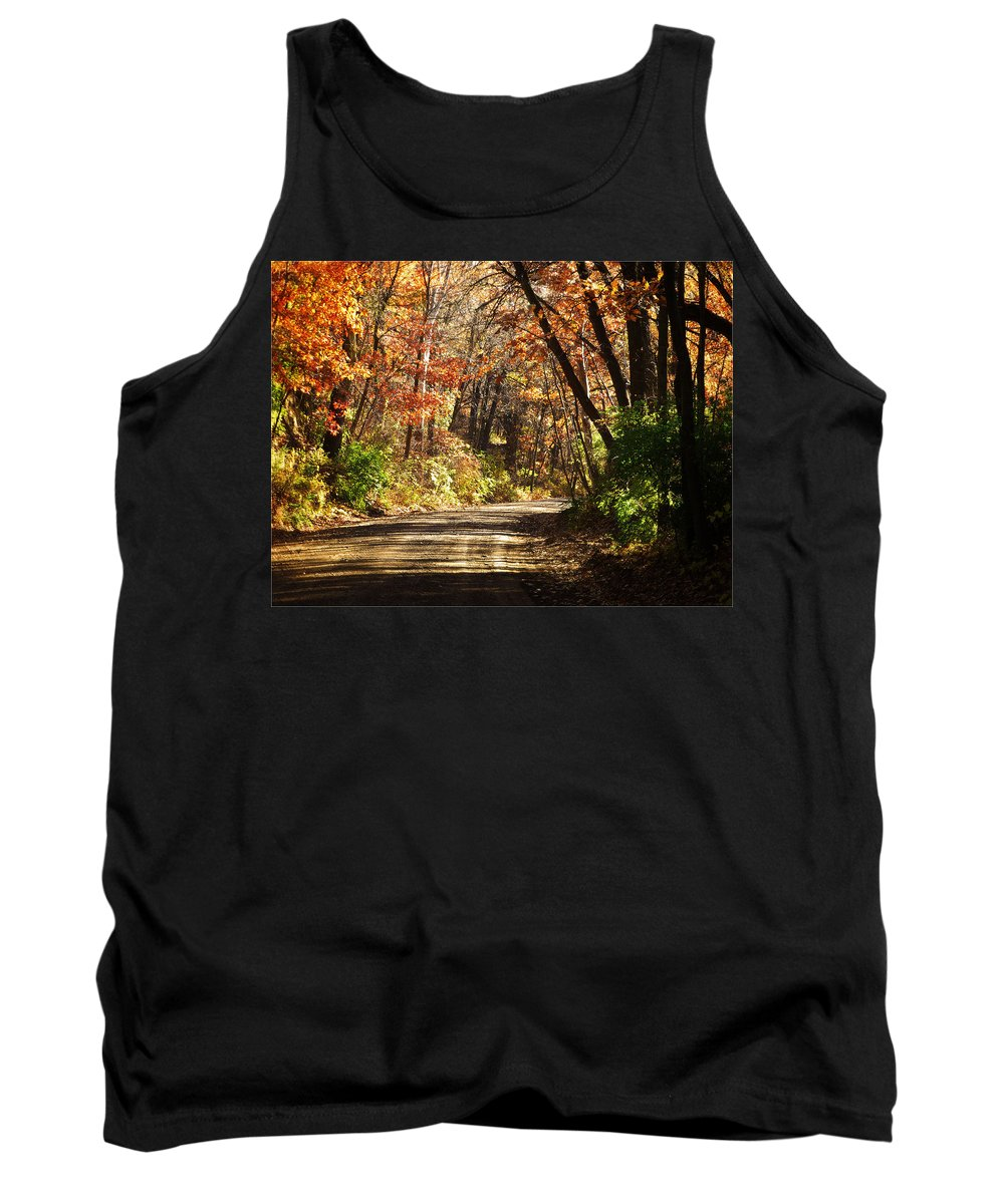 Autumn Tank Top featuring the photograph November Colors 5 by John Anderson